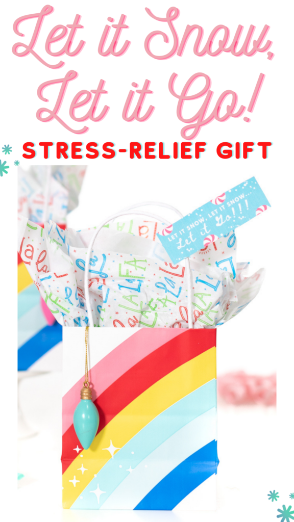 Holiday stress relief care package. Chew the stress away with gum. Cute gift idea.