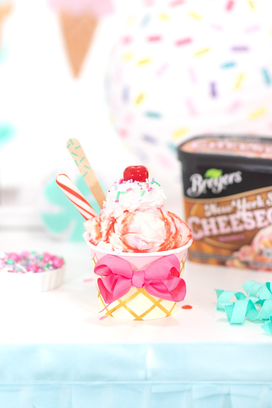 whimsical ice cream sundae