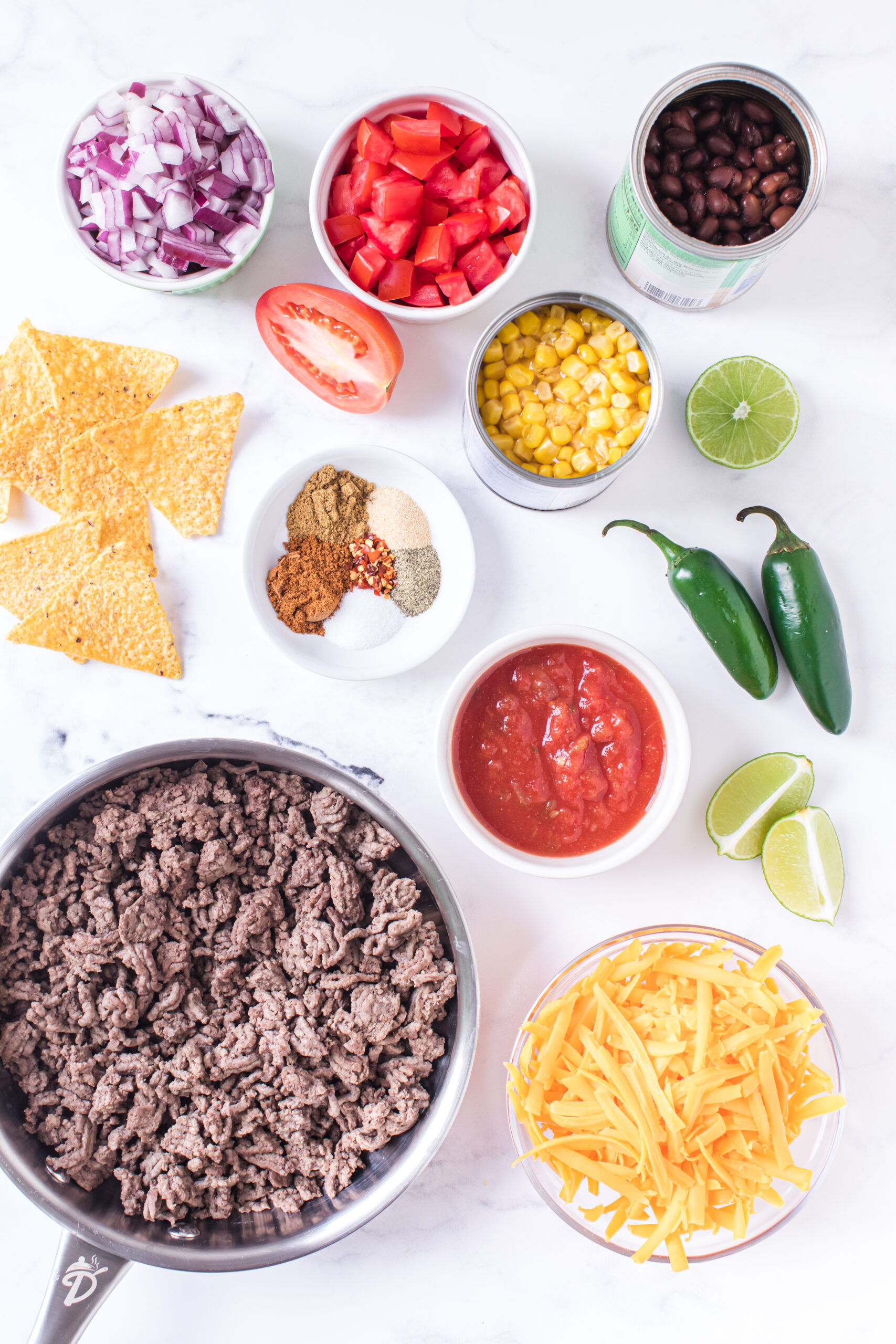ingredients to make baked nachos