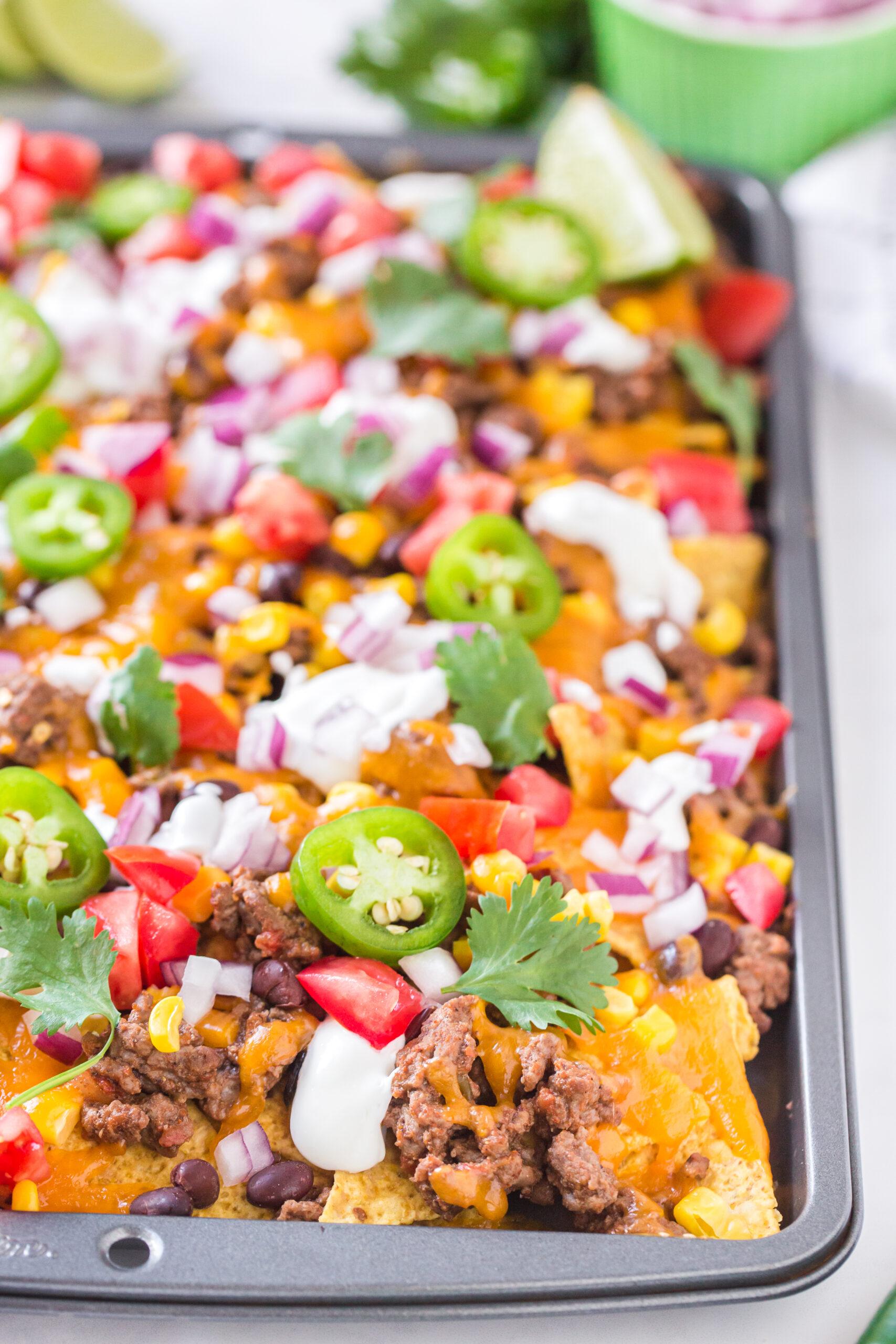 loaded nachos to serve a whole family