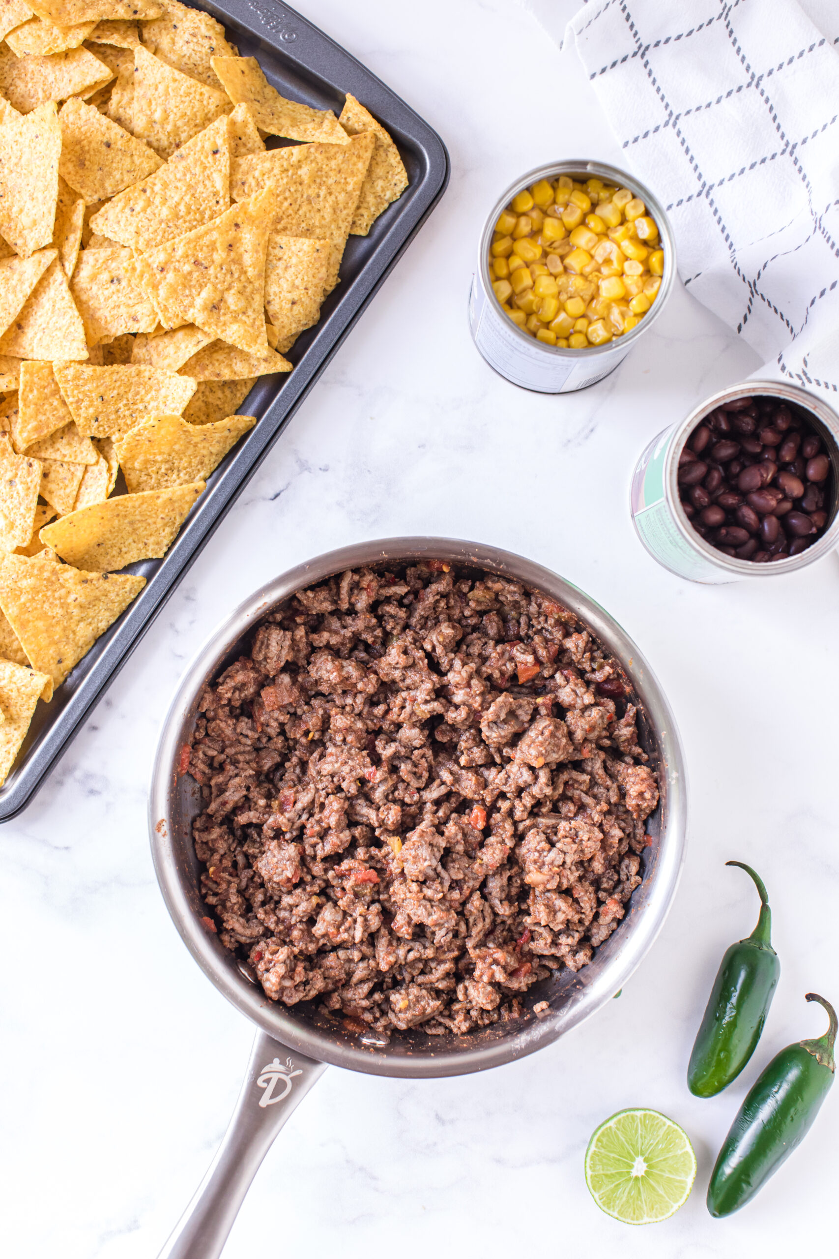 bowl of ground beef ready to be added to nachos