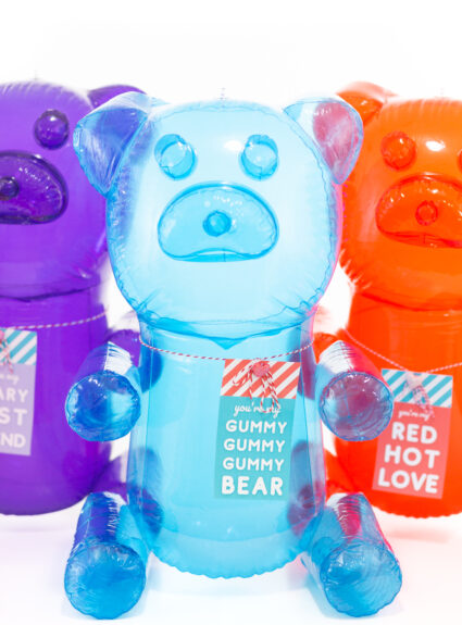 bunch of blow up gummy bears. Hilarious gift for V-day.