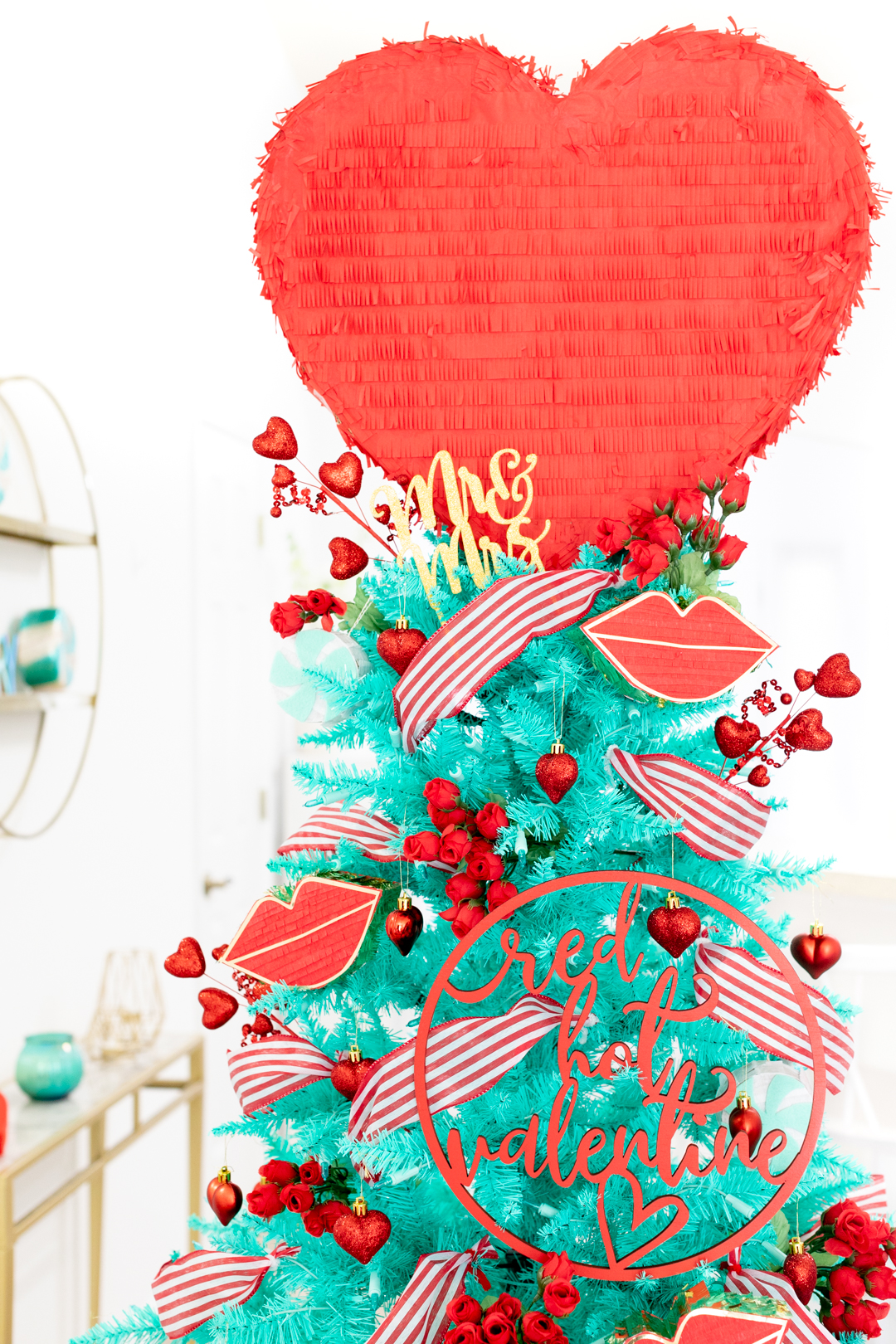 valentine's day christmas tree