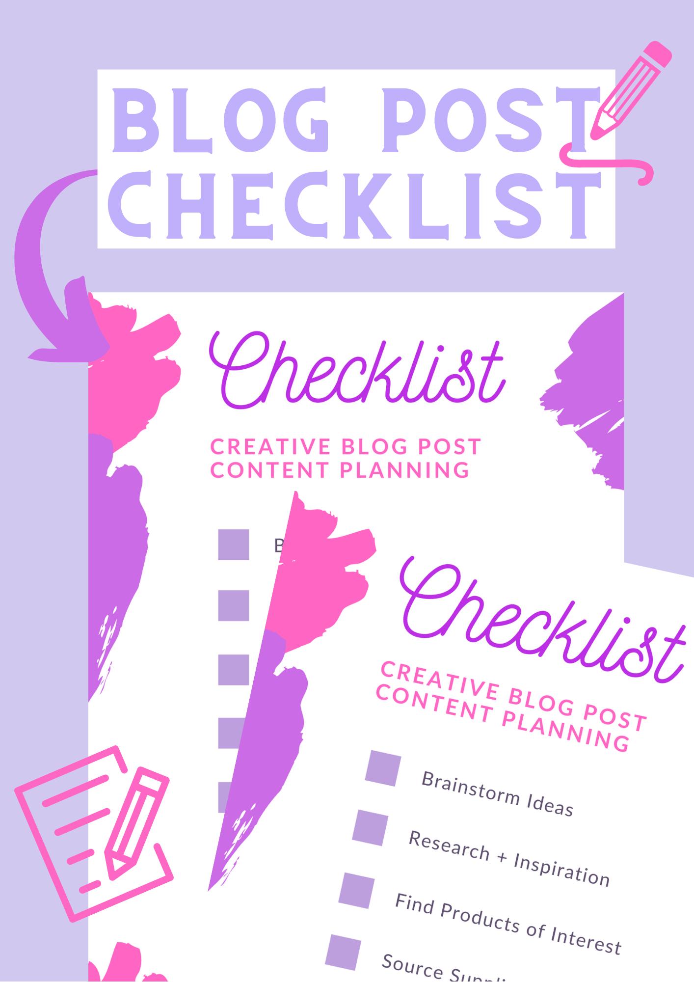 creative blog post checklist promotional graphic
