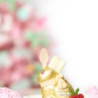 adorable easter bunny dessert. Lindt bunny stuffed with trifle dessert