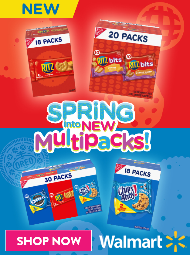 promotional image about Nabisco multipacks available at Walmart this spring