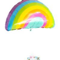 cute diy cupcake decorating kit packed in a rainbow gift box and finished with a cute pastel rainbow balloon