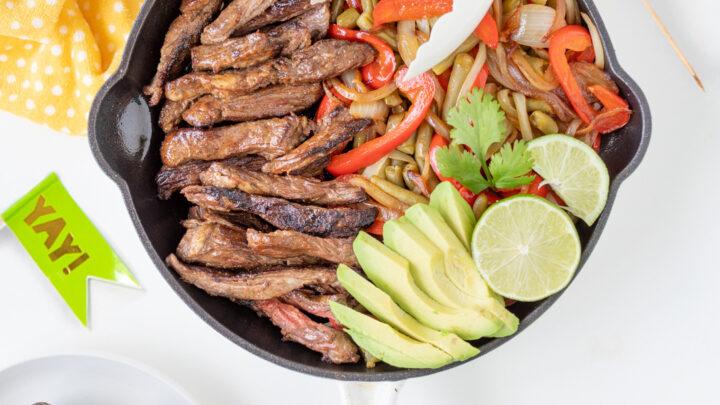 Steak and Green Bean Fajitas with Del Monte® Avocado