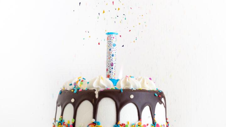Confetti Surprise Birthday Candles