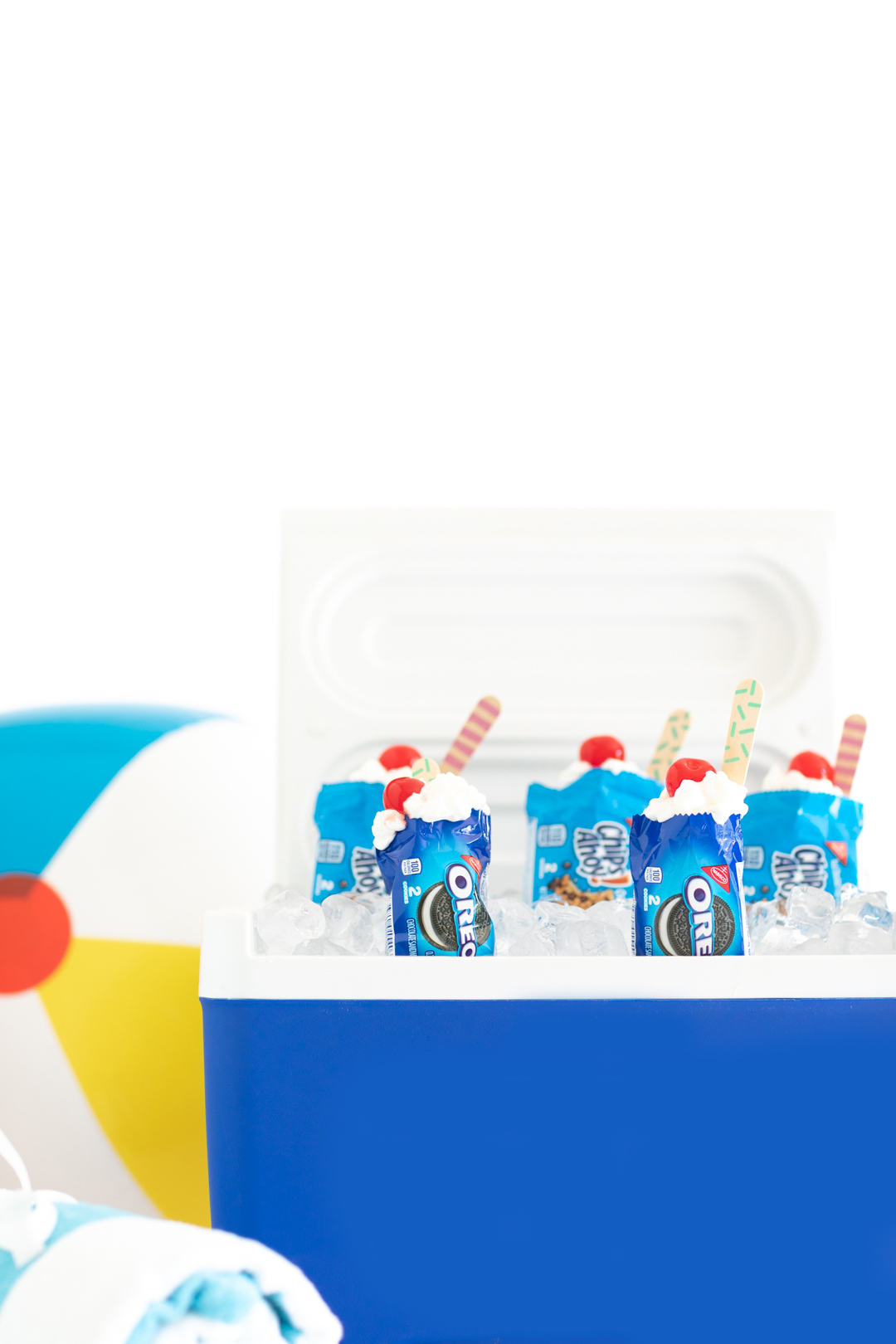 walking desserts served in cookie packages out of a cooler. summer treat.