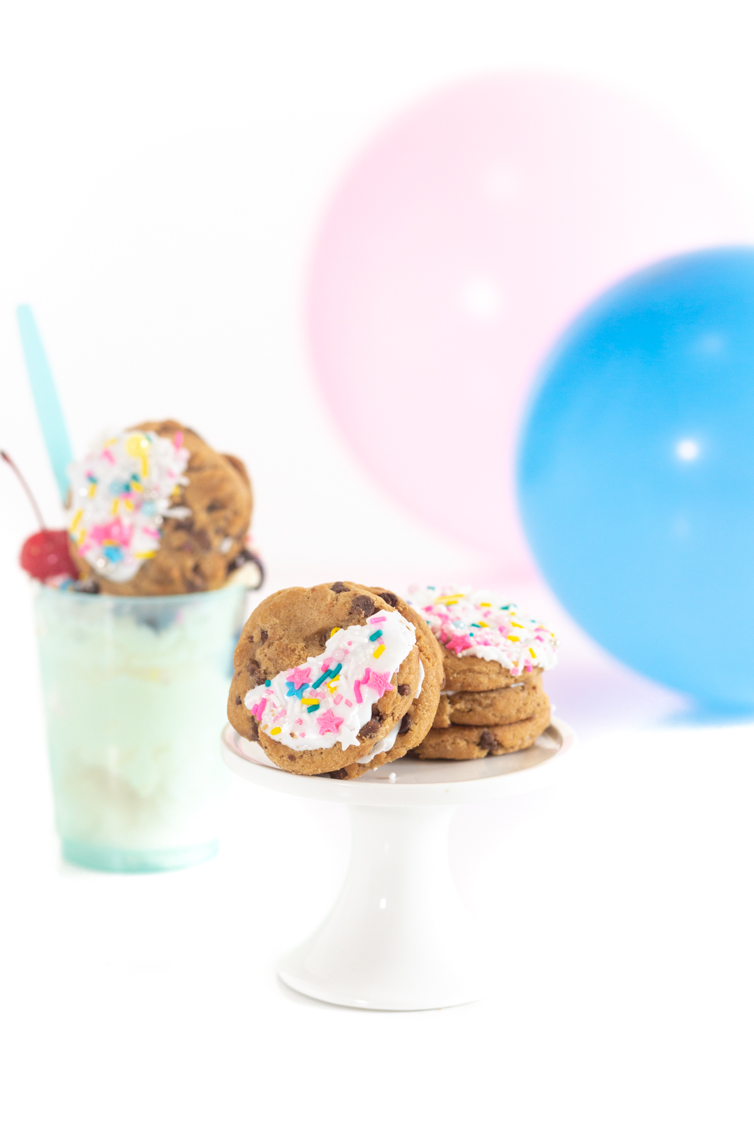 pinata cookies with sprinkles inside that are perfect for eating with ice cream sundaes