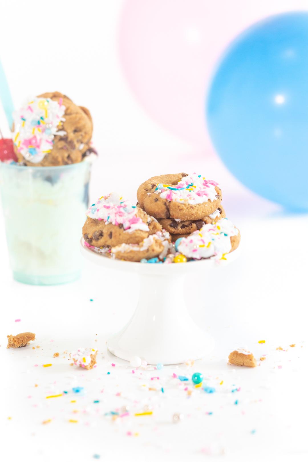 pinata cookies with sprinkles inside
