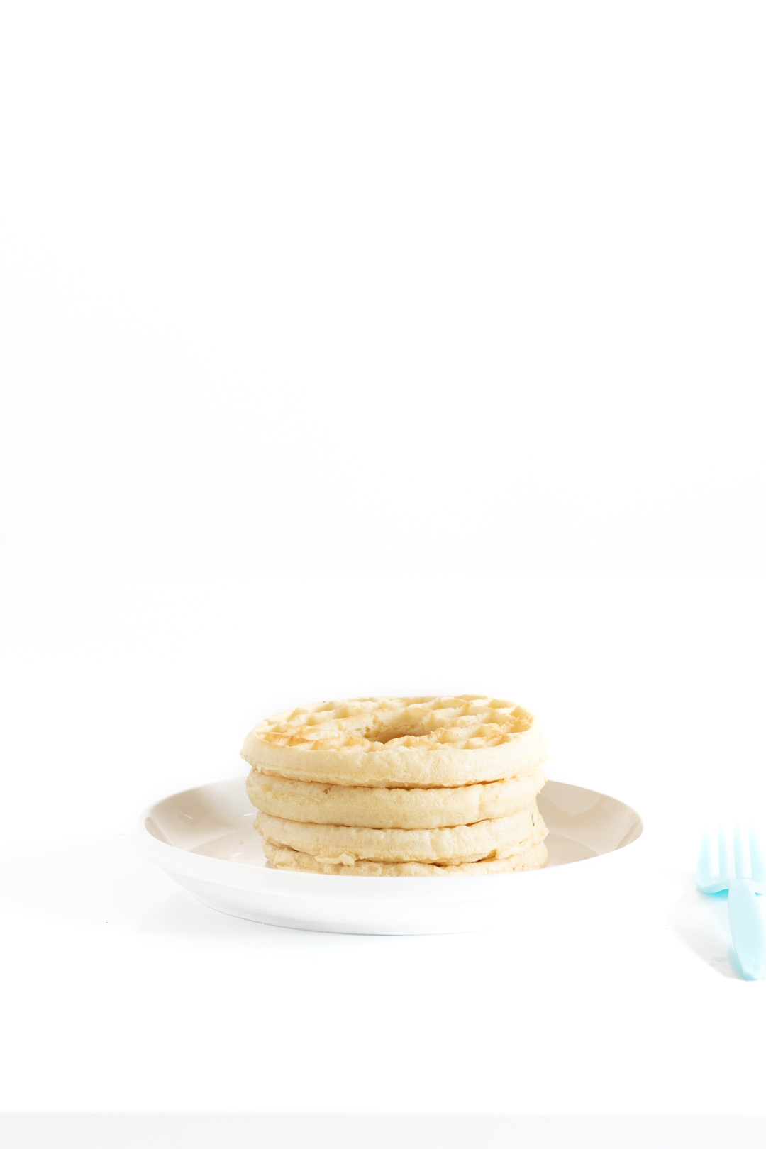 waffle stack with circle cut out in the center for a piñata effect