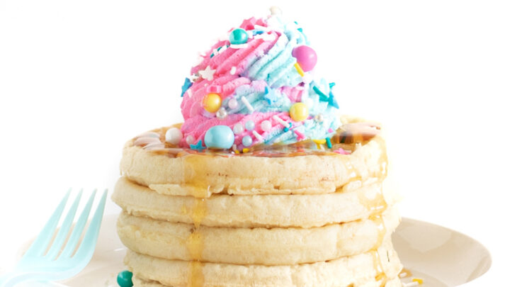 Piñata Waffles Breakfast Idea