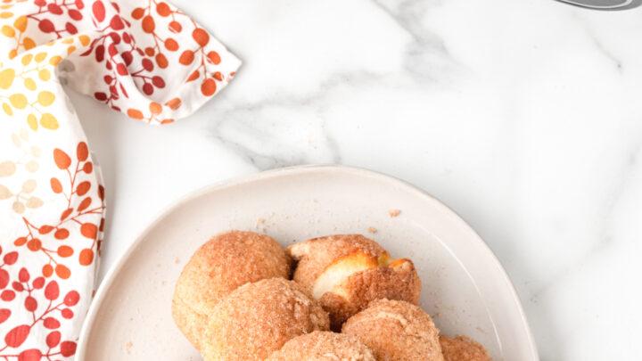 Air Fried Pumpkin Spice Cream Cheese Donut Holes