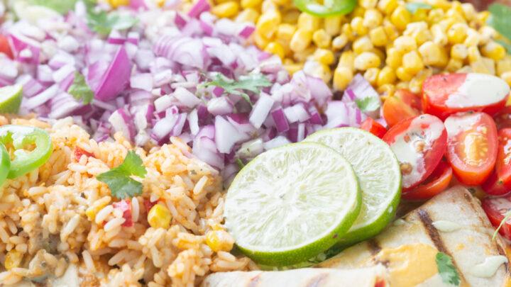 Family Style Quesadilla Salad