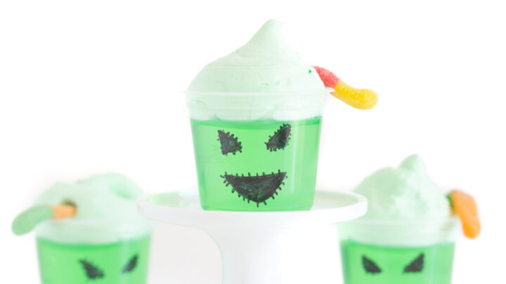Oogie Boogie Gelatin Cups for Halloween